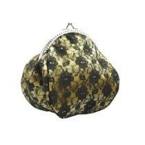 Abendtasche, Damen Tasche, clutch  mit satin, Spitze im glamour Stil 0620