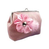 Damen Handtasche, Brauttasche, clutch mit Stoff Blume für Braut zur hochzeit 0660