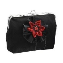 Abendtasche, Damen Tasche, clutch mit Stoff Blume im Stil festlich 0850