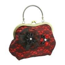 Abendtasche, Damen Tasche mit Stoff Blume im Stil Feierlichkeiten 0975