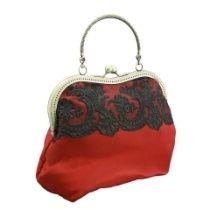 Abendtasche, Damen Tasche mit satin, Spitze im Stil festlich 1105