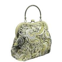 Abendtasche, Damen Tasche, Stoff mit Brokat im Stil festlich 1115