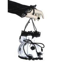 Handgelenktasche ArmbandTasche mit Spitze Samt, für pompadour 0015