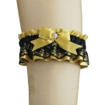 Strumpfband satin, Spitze mit Schleife für Burleske Braut 0175