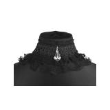 collier dentelle mariage gothique