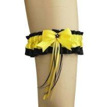 Strumpfband satin mit Schleife für burlesque Hochzeit 0270
