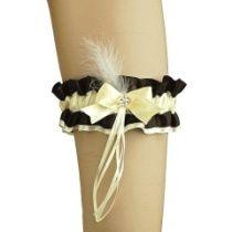 Strumpfband satin mit Schleife für burlesque Hochzeit 0255